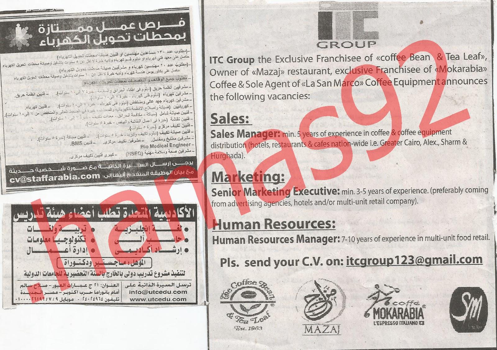 وظائف جريدة الاهرام الجمعة 20/7/2012 - الاعلانات كاملة 13