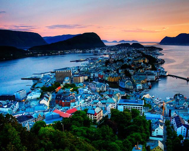 Cảnh Đẹp Đất Nước Na Uy Alesund
