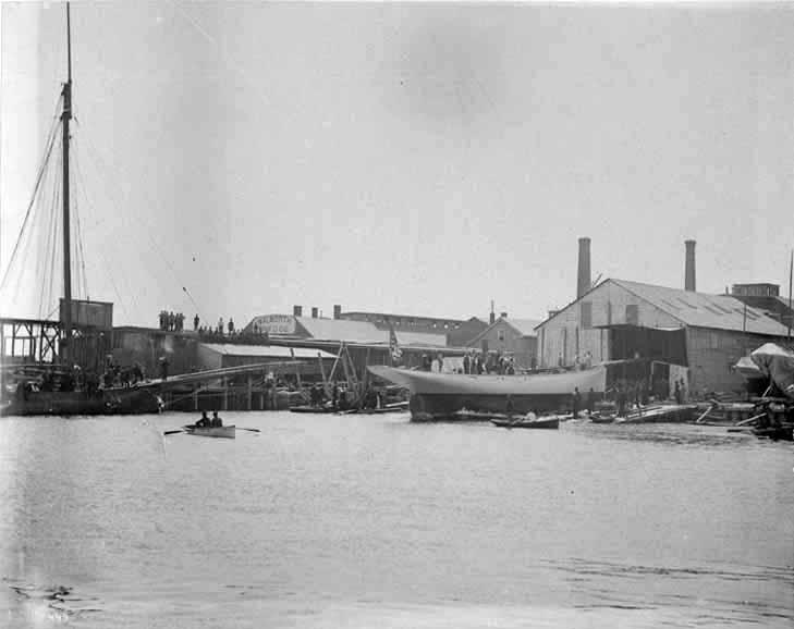 Puritan, sloop de 1885 LancementPuritan