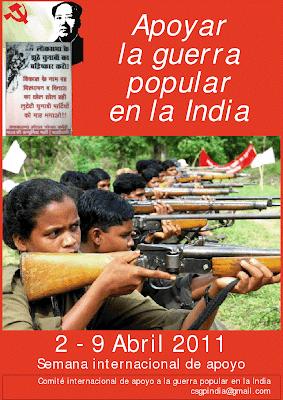 SETMANA INTERNACIONAL DE SUPORT A LA GUERRA POPULAR A L'ÍNDIA   Apoyar%2BGP%2BIndia