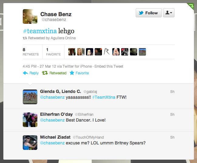 [The Voice II] Coreografos de Christina Aguilera estan trabajando con el #TeamXtina Picture%2B2