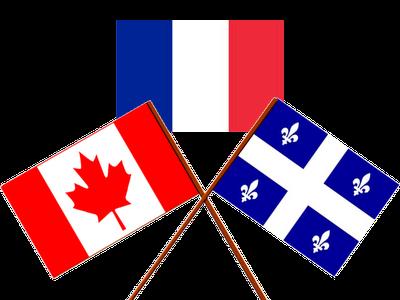 Différences cocasses et inattendues entre Français et Québécois... Quebec-Canada-Flags2