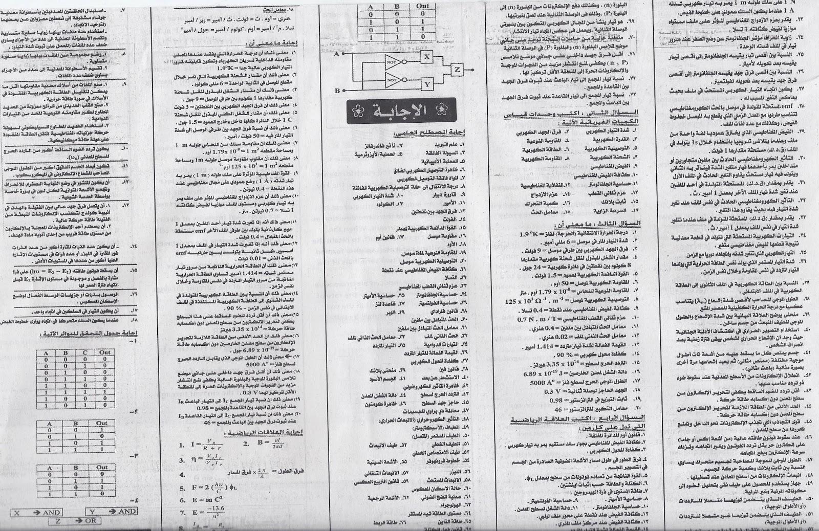 نشر اول واقوى مراجعة فيزياء من اربع مراجعات ينشرها ملحق الجمهورية للثانوية العامة 2015 Scan0013