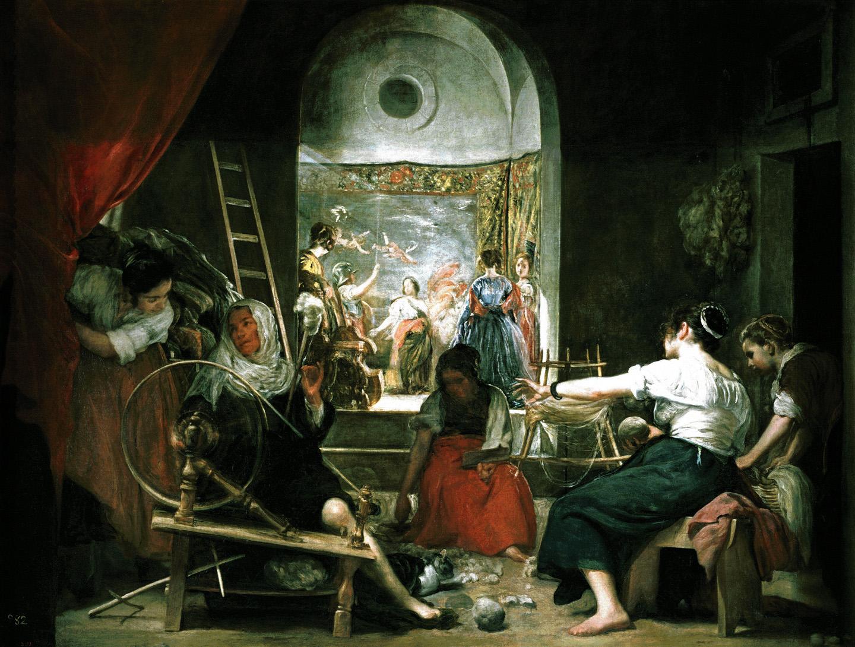 LA PINTURA BARROCA Y VELÁZQUEZ Velazquez-LasHilanderas-1