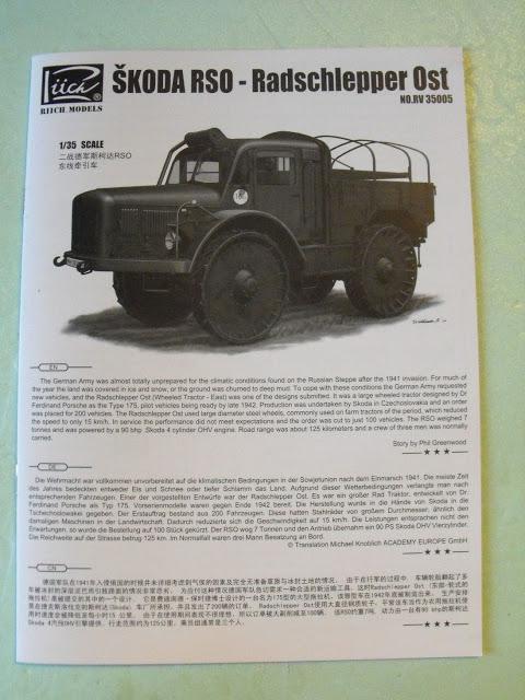 Skoda RSO-Radschlepper Ost au 1/35 de chez Riich model. DSCF2870