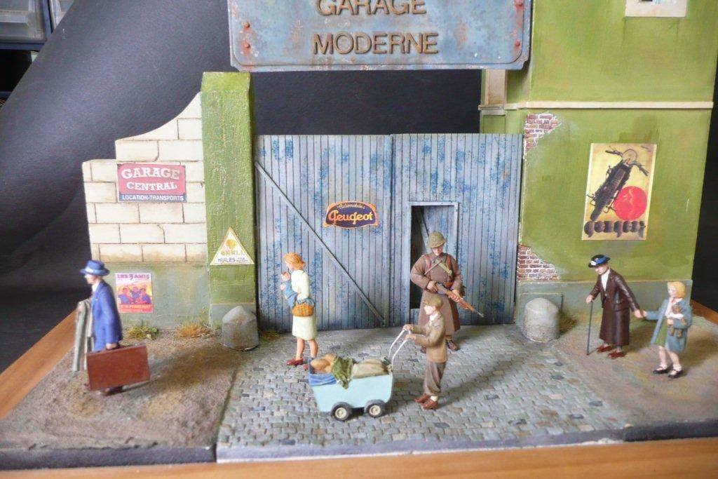 Diorama 1/35 Garage-Mk35-72