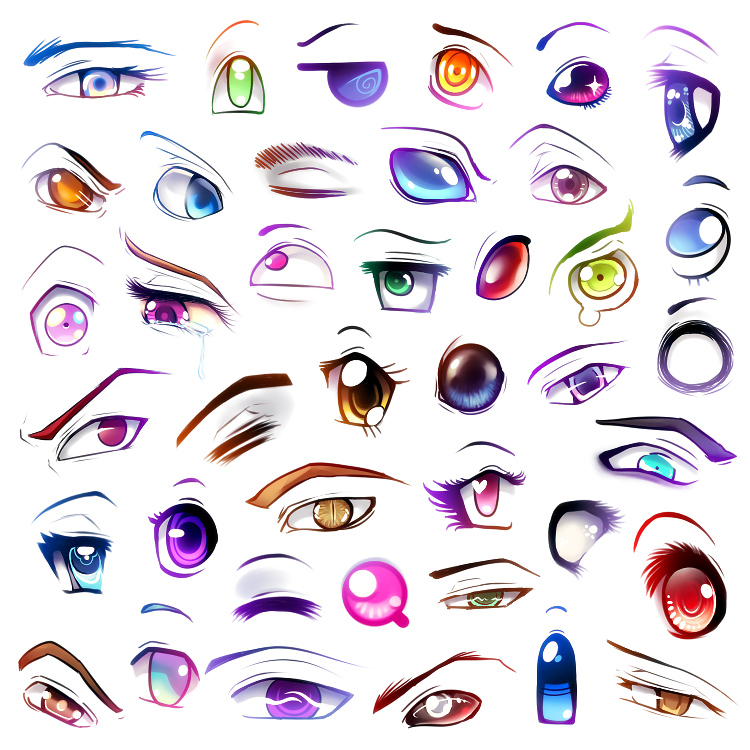 Aula 02 - Rostos e Cabelos Eyes_IV_by_Kikariz