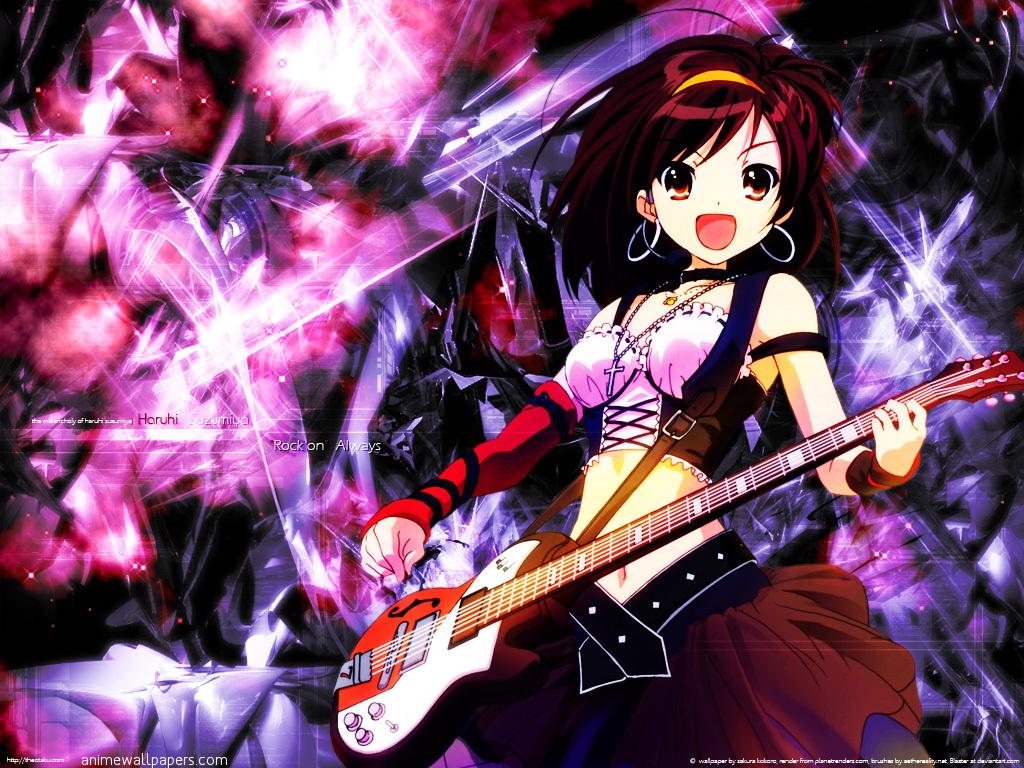 [JDR] Gonna Rock! ♪ Suzumiya-haruhi-no-yuutsu-rock-star-guitar-wallpaper