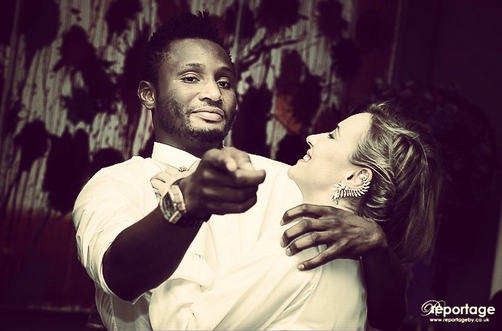 Mikel Obi's girl celebrates him after his impressive performance this evening 1