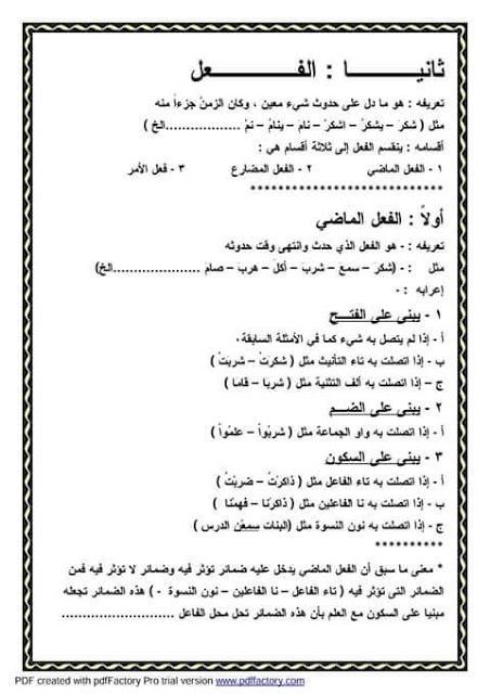 """ملف راااااائع شامل كل """"قواعد اللغة العربية للمرحلة الابتدائية"""" 3"""