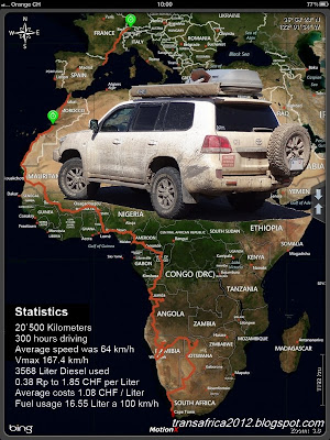 Transafrica over the west, a 20`500km trip TransAfrica-Flyer