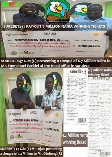 Surebet247 pays bettors N8,065,149.81 few weeks after paying seven million(see pics) 0