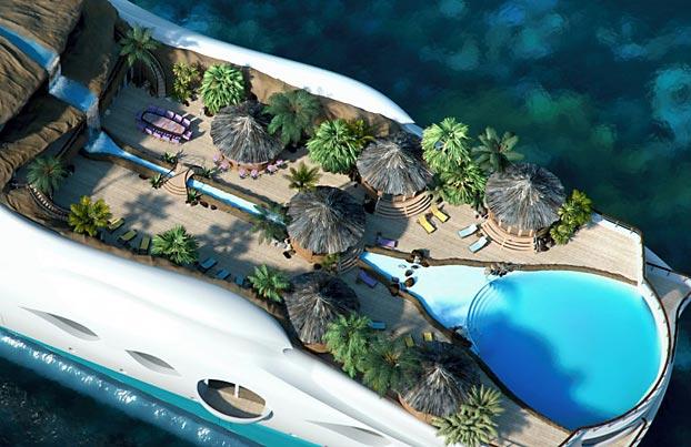 நகரும் உல்லாச குட்டித் தீவு... Luxery-Island-Ship
