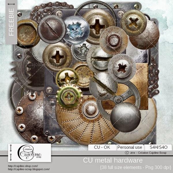Freebie - CU metal hardware  Freebie_cajoline_metalhardware_cu