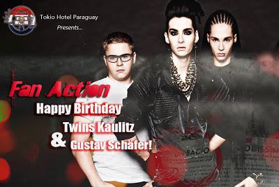 El FC de Tokio Hotel Py: Für immer jetzt, te invita a participar del Fan Action!  Happyyyy
