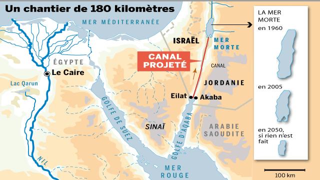Le jeu de la France: Défense du pré-carré en tandem avec Israël? 847870_5_093c_un-canal-pour-sauver-la-mer-morte