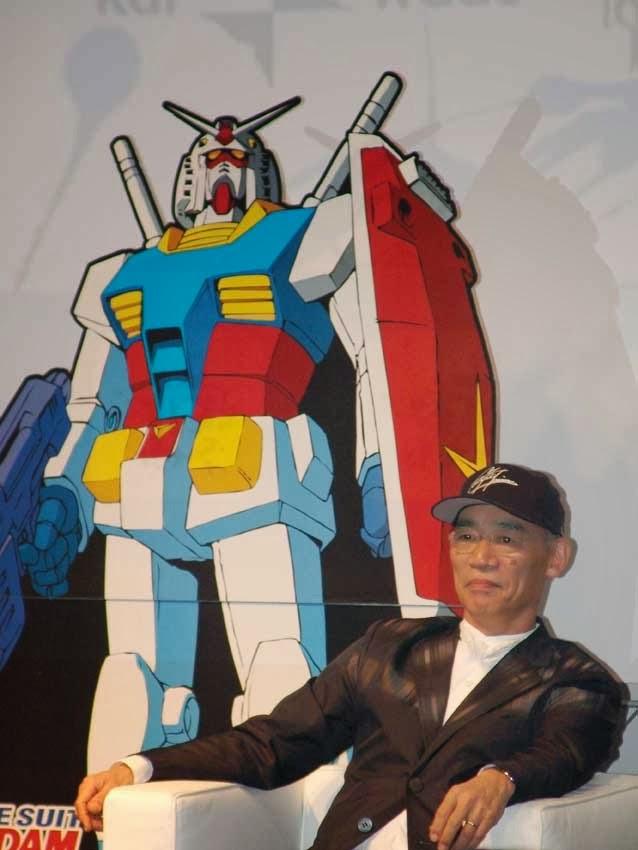 """[Gundam é melhor news] Criador de Gundam Critica Duramente """"Ataque dos Titãs"""" Fantascienza_SideCon_TominoGundam"""