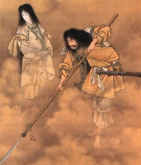 Dossier avril 2013 : Le Shintoïsme Kobayashi_Izanami_and_izanagi_7279