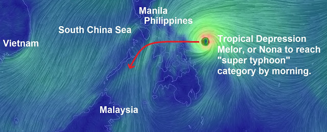 "Another deadly ""super typhoon"" to smash into the Philippines early next week as Melor begins to strengthen  Untitled"