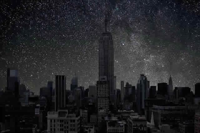كيف ستبدوا المدن الكبرى لو خيم عليها الظــلآم الدامـس ..؟! New%2BYork1