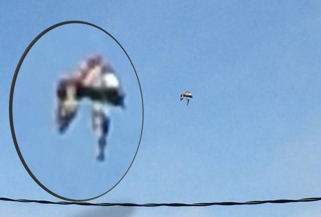 Strange humanoid-like figure spotted in the sky over Dublin, California Flying%2Bhumanoid