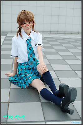 iDOLM@STER Break THE-iDOLM%2540STER-Cosplay-Ritsuko-Akizuki-6-byChamaro