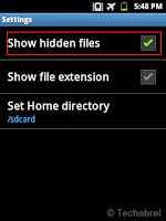 How to hide folder or files in android without any app?  2