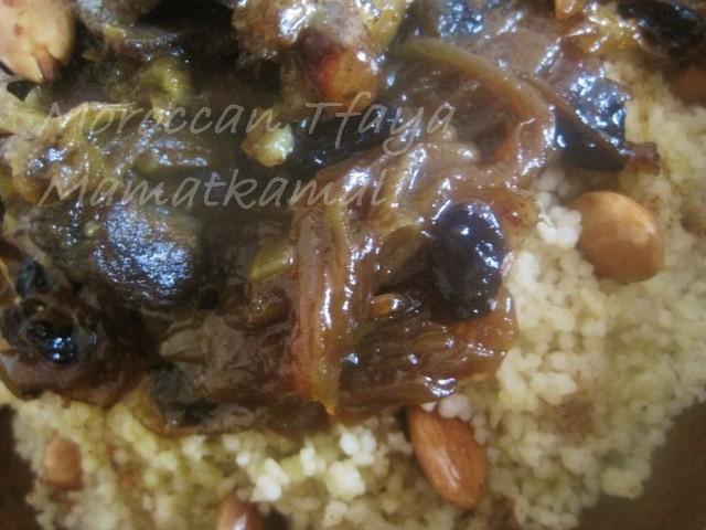 Tfaya Recipe or Caramelized Onions and Raisins / Recette de Tfaya ou les Oignons Caramélisés et raisins secs à la marocaine 0415