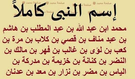 محمد صلى الله عليه وسلم Mohamed