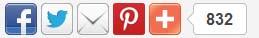 افضل واجمل طريقه لإضافة أزرار الفيس بوك وتويتر وجوجل بلس لموقعك فقط هنا  Httf