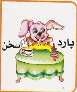 لتعليم الاطفال الصفات المضادة بالرسومات الشيقة باللغة العربية حضانة KG1 & KG2 2