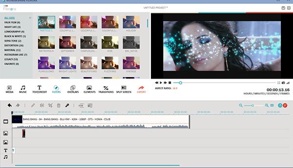 تحميل برنامج مونتاج الفيديو واضافة التأثيرات Filmora Image5