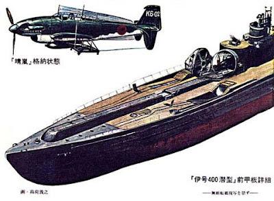 الغواصة اليابانية الحاملة للطائرات Sen Toku I-400-class  + فيديوهات HD  نادرة  و لاول مرة Submarino%2BI%2B400