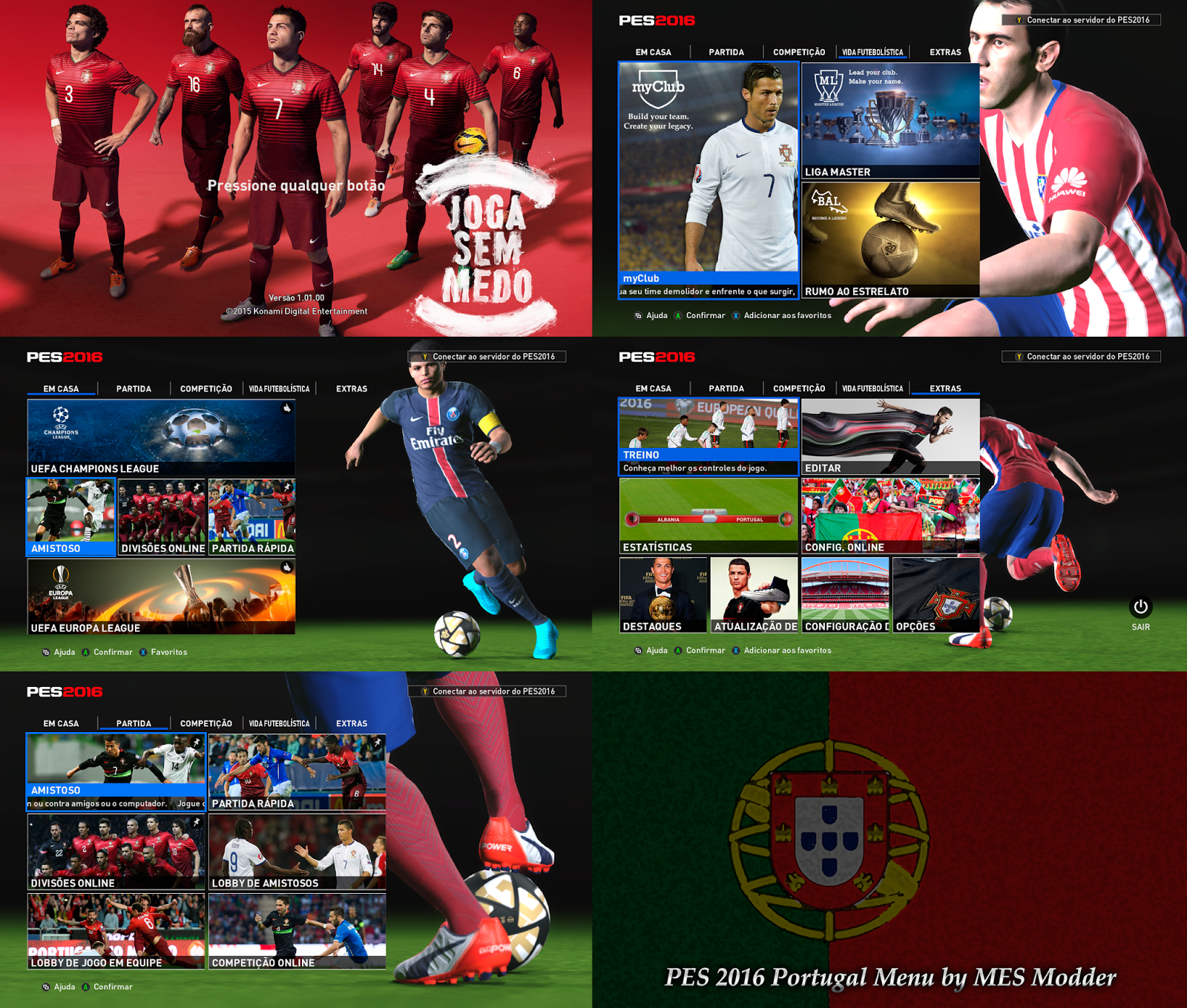 [PES 2016] Portugal Menu by MES Modder PREVIEW