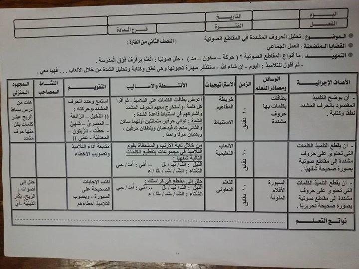 """لغة عربية: نموذج استرشادى لاعداد درس """" استماع وتحدث +  تنمية مهارات القراءة"""" 2"""