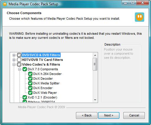 برنامج الكودك Media Player Codec Pack  Screen_shot_1_large