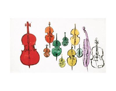 Impresión tela cuadro acústico Eleven-string-instruments-pop-art
