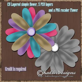 Layered Flowers - By: Kaklei Designs Kakleid_culayeredsimplefw_pw