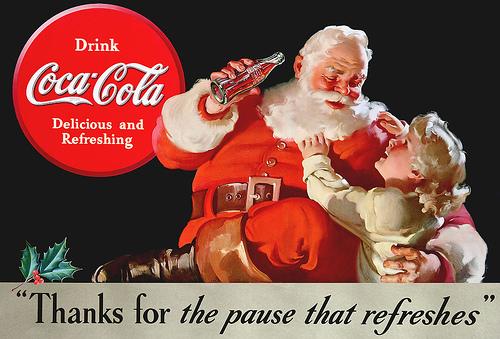 Père Noel - Saint Nicolas et une question  Pere-noel-rouge-coca-cola