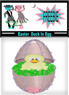Easter Ducky in a Frbrege Egg - By: Cat's Meow EasterDuckInEgg_CUFreebie_byCatmom