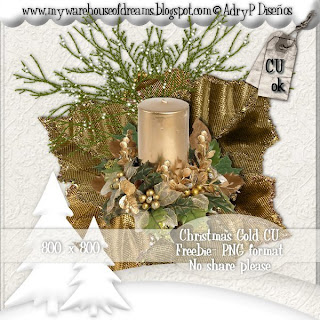 CU Xmas Candle APD_CmasGoldFreePreview