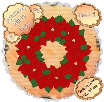 Christmas Wreath / Flower #1 XmasFlowerRed-Wreath-01_Preview