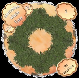 Pine Wreaths 1-4 (CU OK) {Memories Made Easy} PineWreath_1_PREVIEW