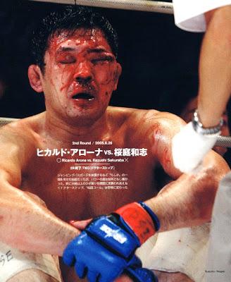 10 MMA Photos That Will Scare Your Children and Make You Cry Sakurabas_face_ricardo_arona