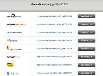 """Novidades sobre """"Upadores"""" de Arquivos Multiupload"""