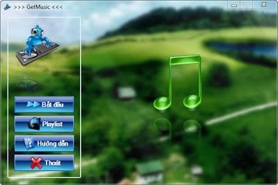 GetMusic phần mềm nghe nhạc và xem video trực tuyến từ Zing, NhacCuaTui, YouTube...! FrmStartRegisted
