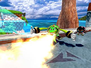 Sonic Heroes, présentation Screen42