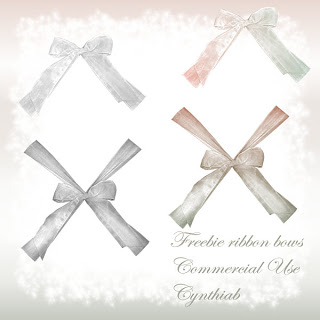 Ribbons - By: Cynthiab Commercialuseribbonbowssmallpreview