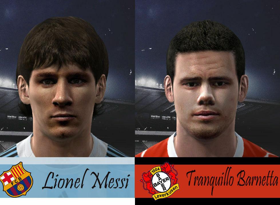 Barnetta & Messi Faces Preview