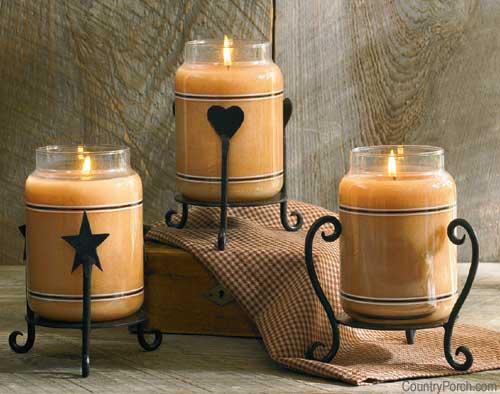 Svece  u svim varijantama - Page 2 Jar-candle-holders